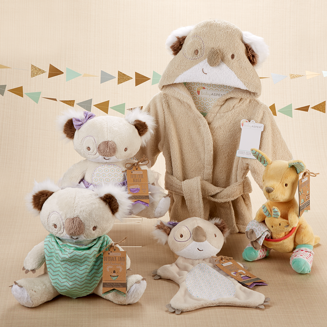 What S Cuter Than Koalas Kangaroos From Sweet Robes To Cuddly Plush Animals These Baby Gifts Inspired By The Aus Baby Boy Gifts Baby Girl Gifts Baby Gifts
