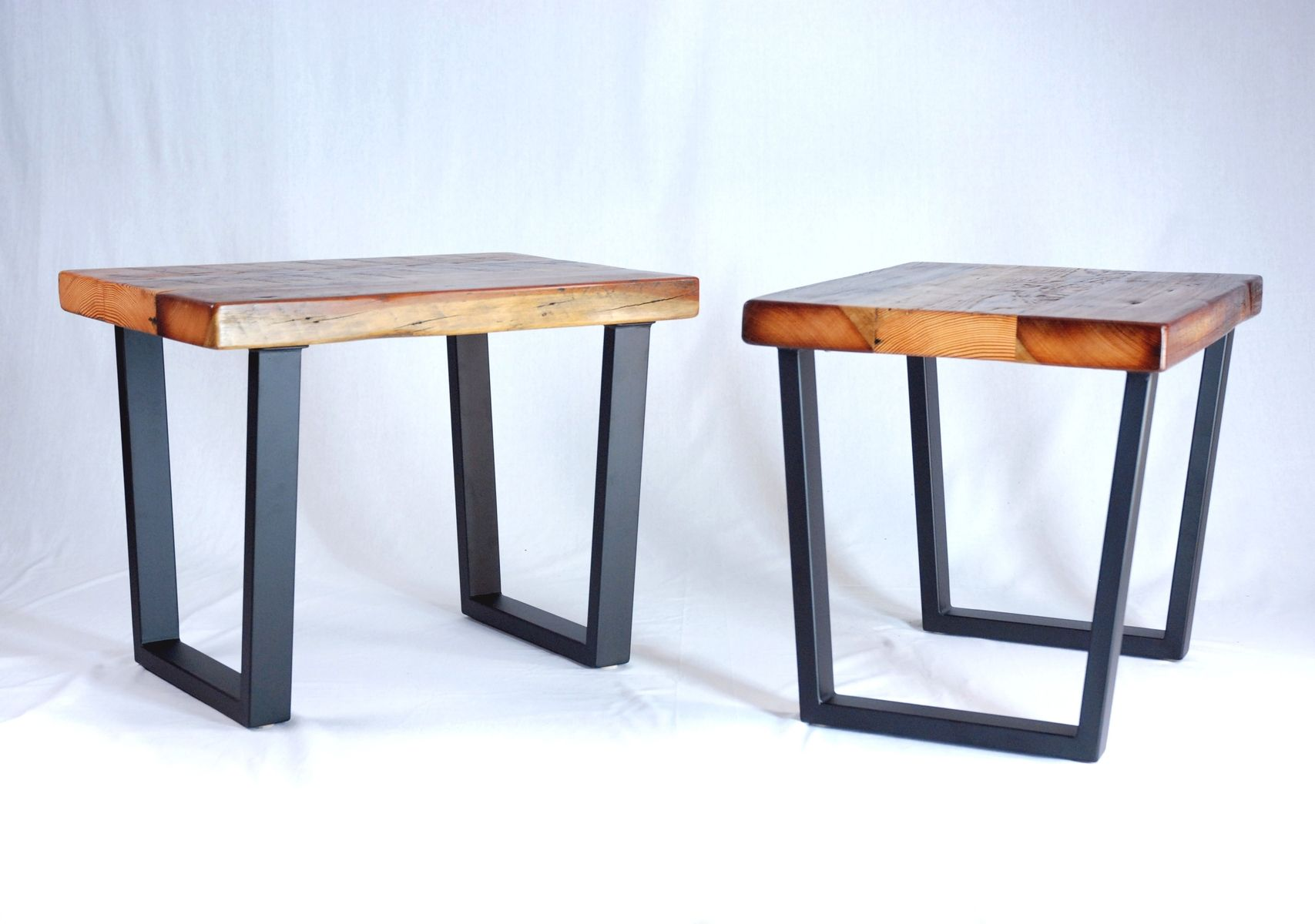 Industrial Reclaimed Timber End Table Set Entryway Table Decor Small Entryway Table Reclaimed Wood Coffee Table [ 1200 x 1707 Pixel ]