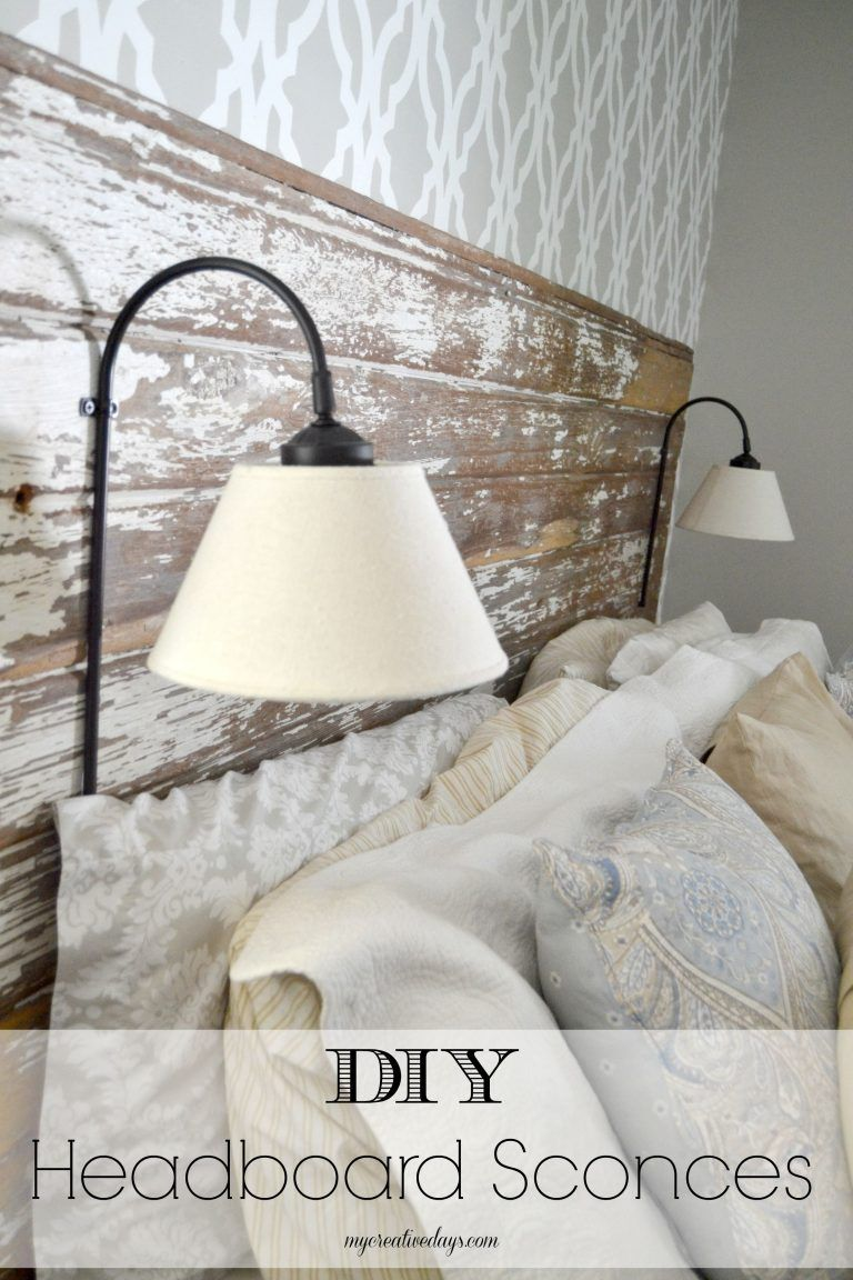 Hervorragend DIY Headboard Sconces MyCreativeDays.com