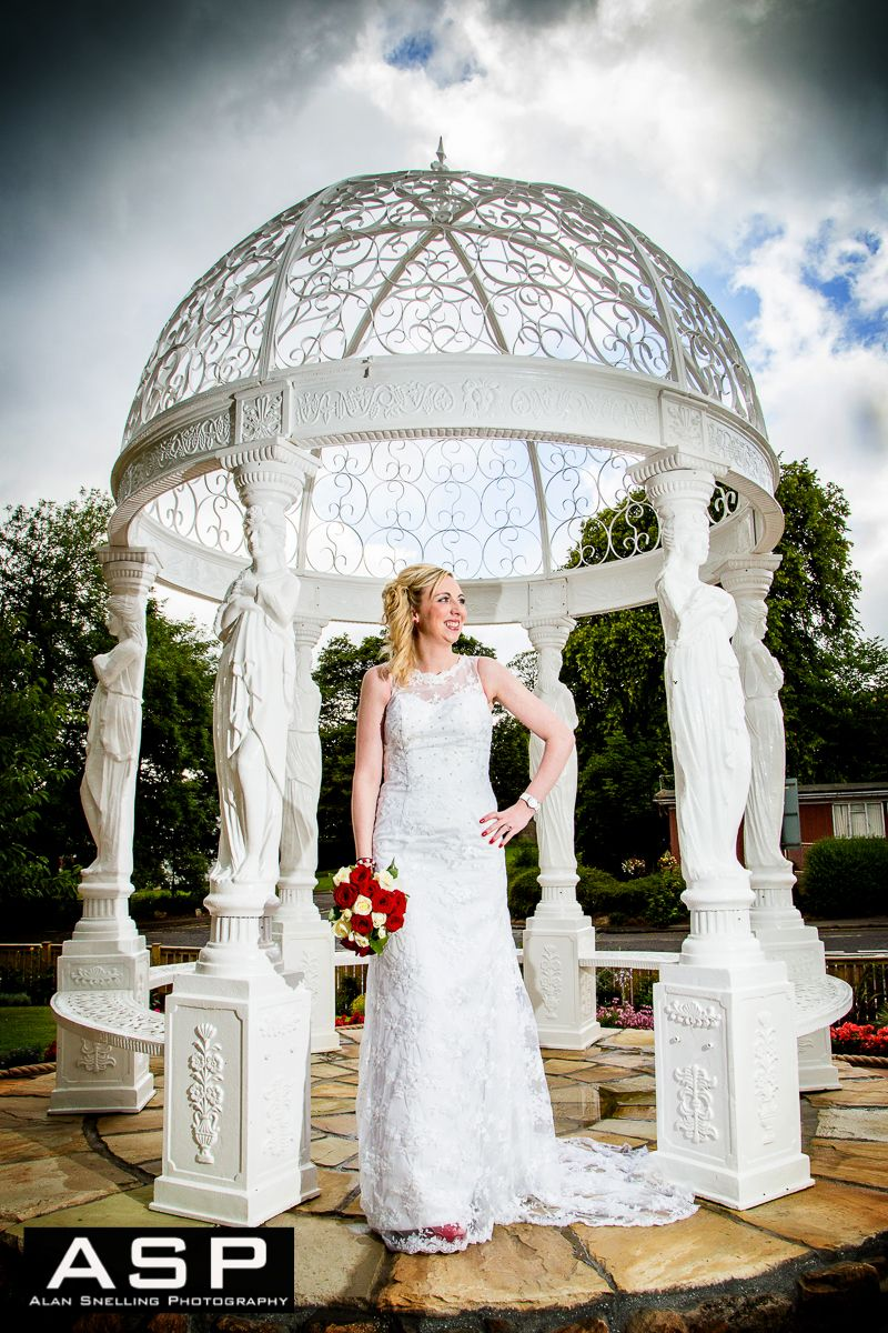A Bride In The Gazebo Taken During Wedding At Torrance Hotel East