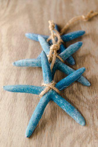 Hinterland Trading Christmas Blue Starfish Ornaments 3\