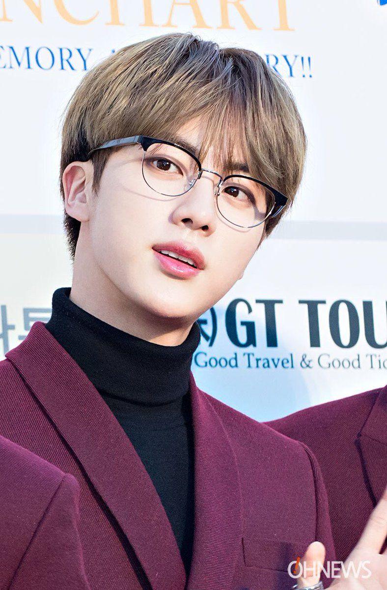 10 Male Idols Who Totally Look Like Hot Nerds In Glasses Bts Jin Kim Seokjin Seokjin