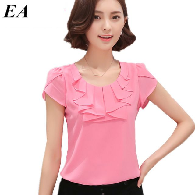 Chemise Femme Quality Las Chiffon Blouses Directly From China Blouse Suppliers Eveingasky Office Women Shirts White Pink