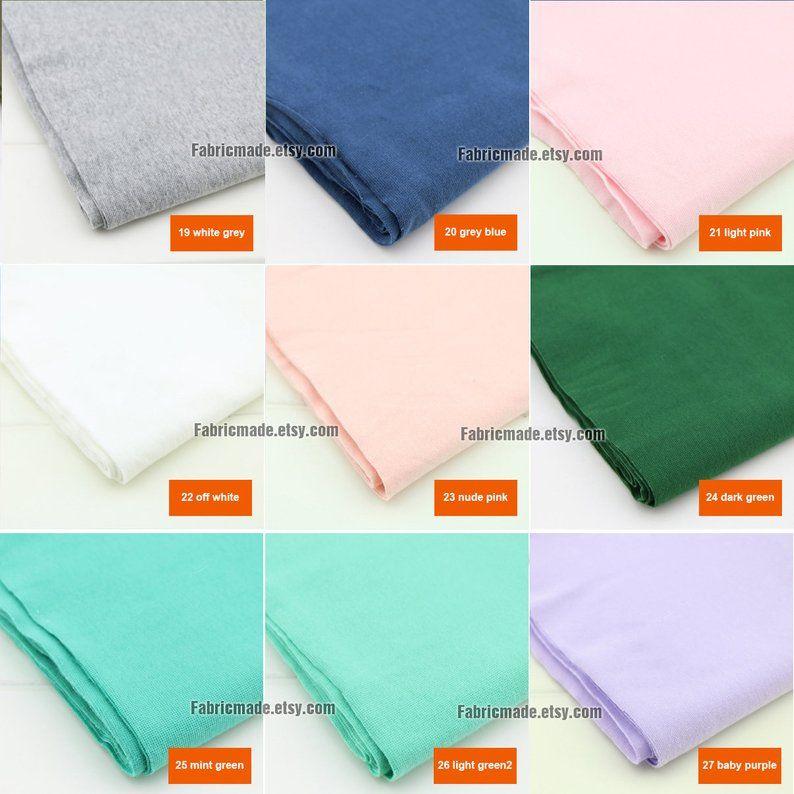 7.8 Length 20 x 150cm Ribbing and Binding Knit Fabric For Neckline 80 Colors Light Ribbing Cuffs Hems