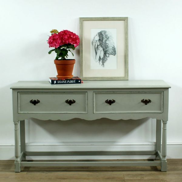 The Piece Is Painted In A Pretty Shade Of Greyish Sage