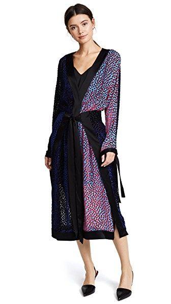 Diane Von Furstenberg Long Sleeve Kimono Dress Dianevonfurstenberg Cloth Long Sleeve Kimono Kimono Dress Wrap Dress