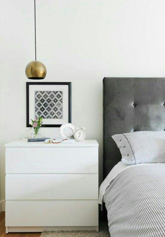 Ikea Malm 3 Cajones Como Mesilla Muebles De Dormitorio Blanco Muebles Dormitorio Decoraciones De Dormitorio