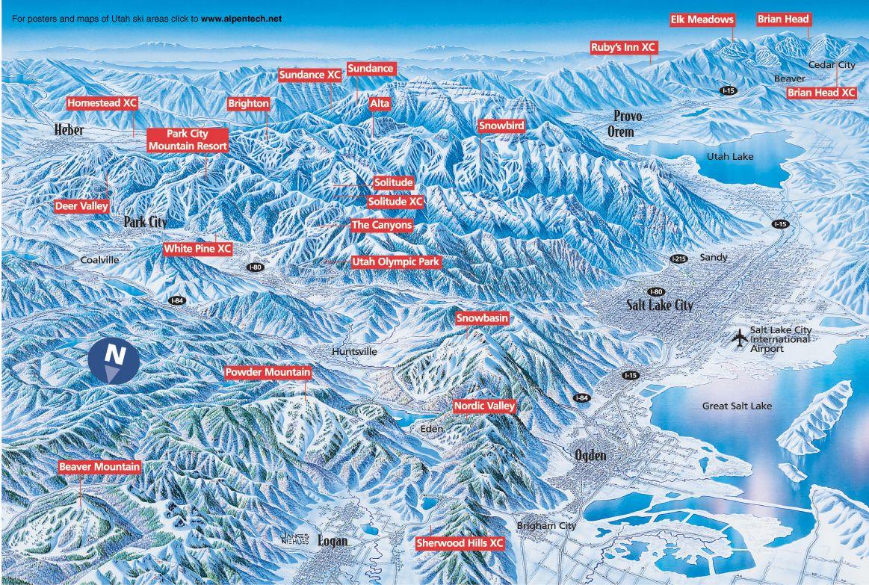 skiing in utah map Ski Area Map Utah Fairway Springs Golf Ski Villas At The
