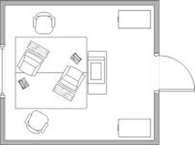 Creating  functional office layout for two face to desk homeofficeideas also rh pinterest