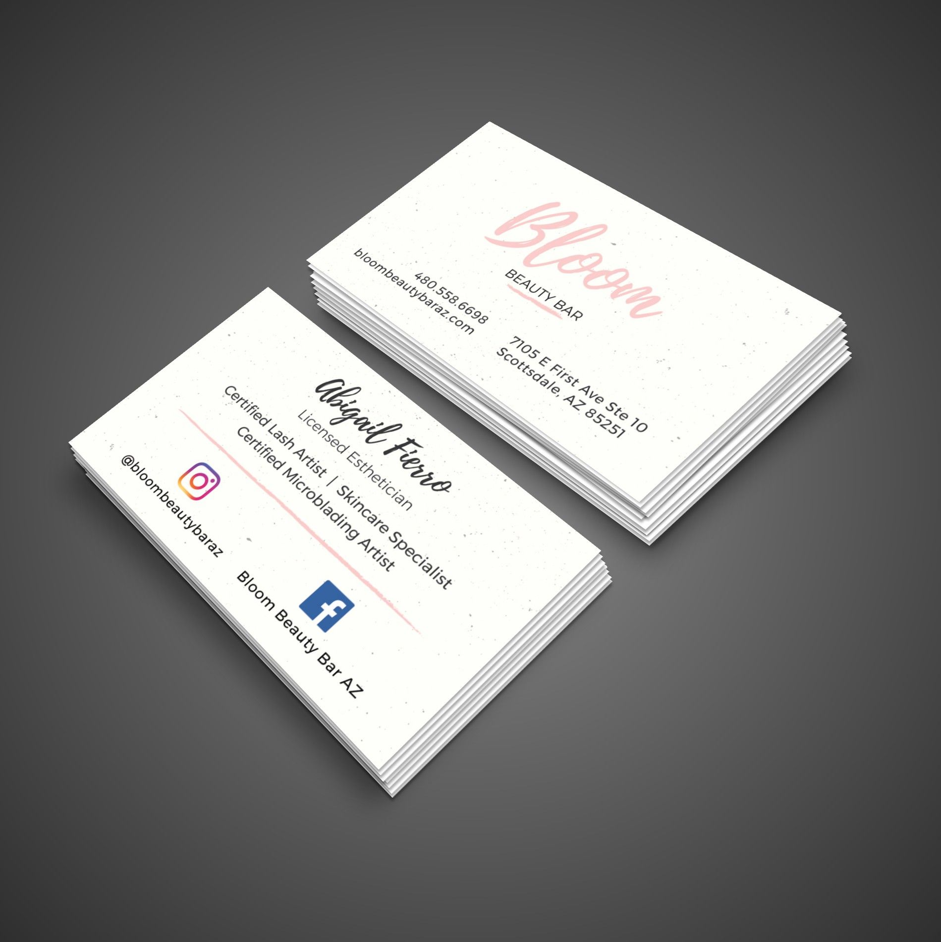 Half pint web design business card design for licensed esthetician half pint web design business card design for licensed esthetician located in scottsdale az colourmoves