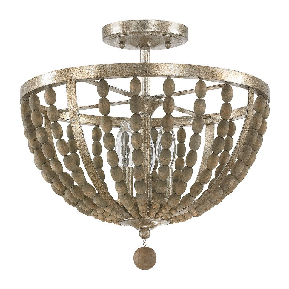 Lowell 3-Light Semi Flush Mount