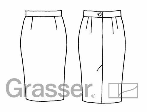 Эскиз женских юбок