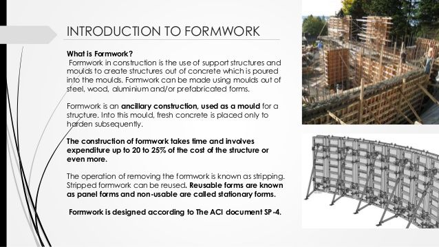 Formwork Construction In Structures In 2020 Construction Support Structure Garden Tools