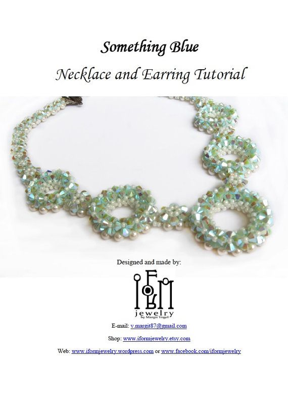 Beaded Necklace Tutorial  Something Blue Necklace di iformjewelry