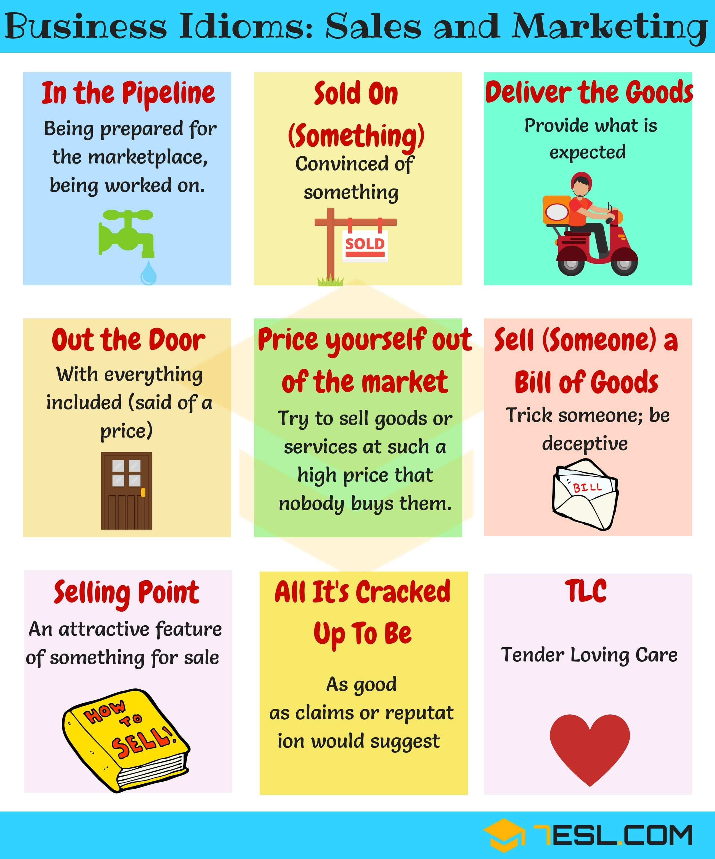 Business Idioms 110 Useful Business Idioms Amp Sayings
