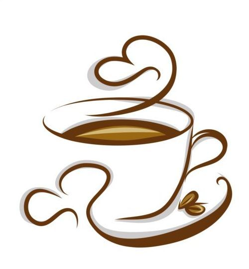 Abstract coffee with cup design vector 04 | Coffee | Pinterest ...