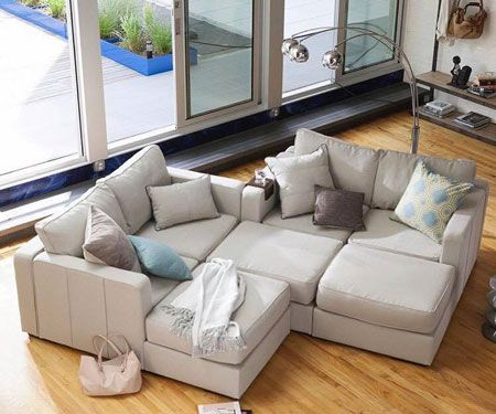 This Modular Sofa Couch can be rearranged in minutes creating new and better seating arrangements every time.