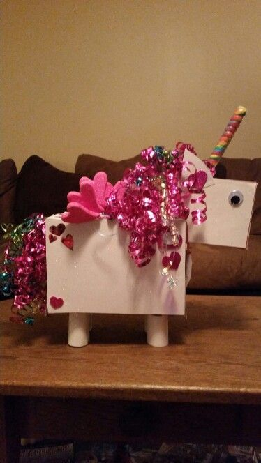Unicorn Valentine S Day Box For My Lil Darlin Pinterest