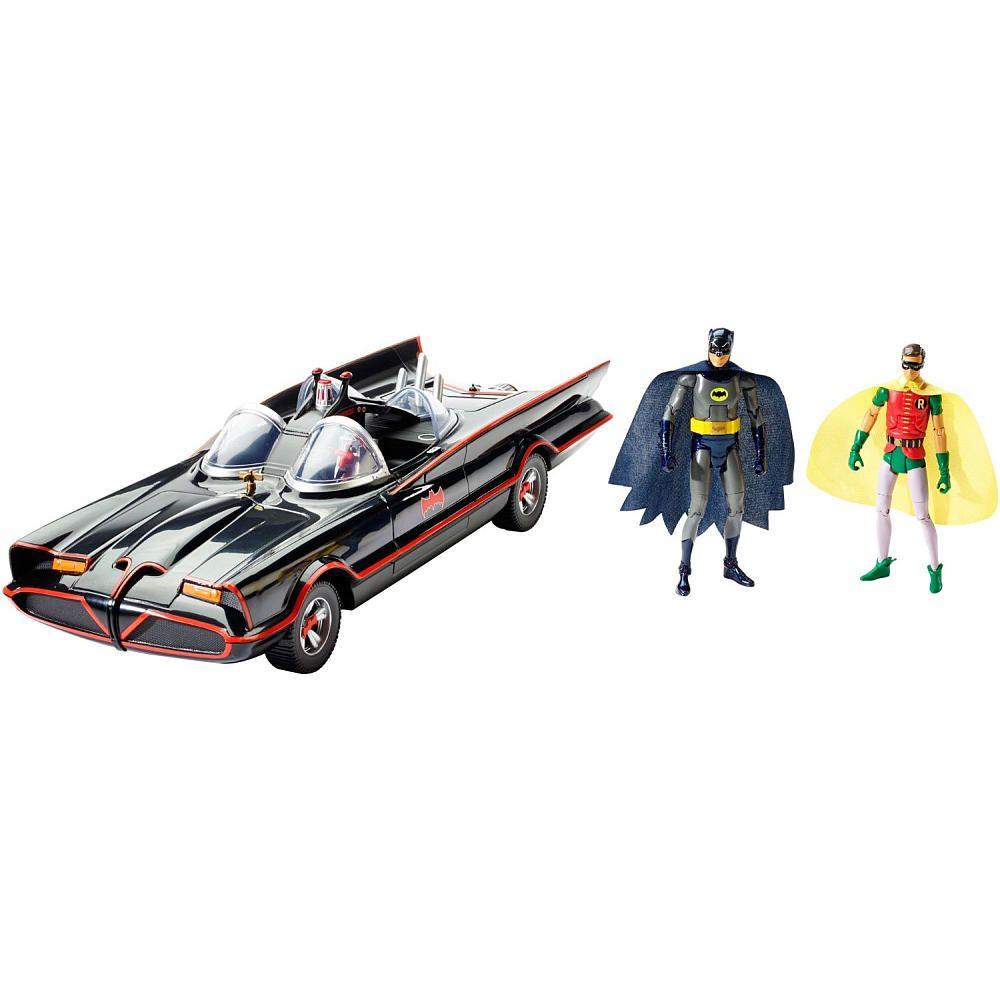 "1966 BATMOBILE 6/"" 6 inch Figure Batman Classic TV Series Mattel DC Comics West"