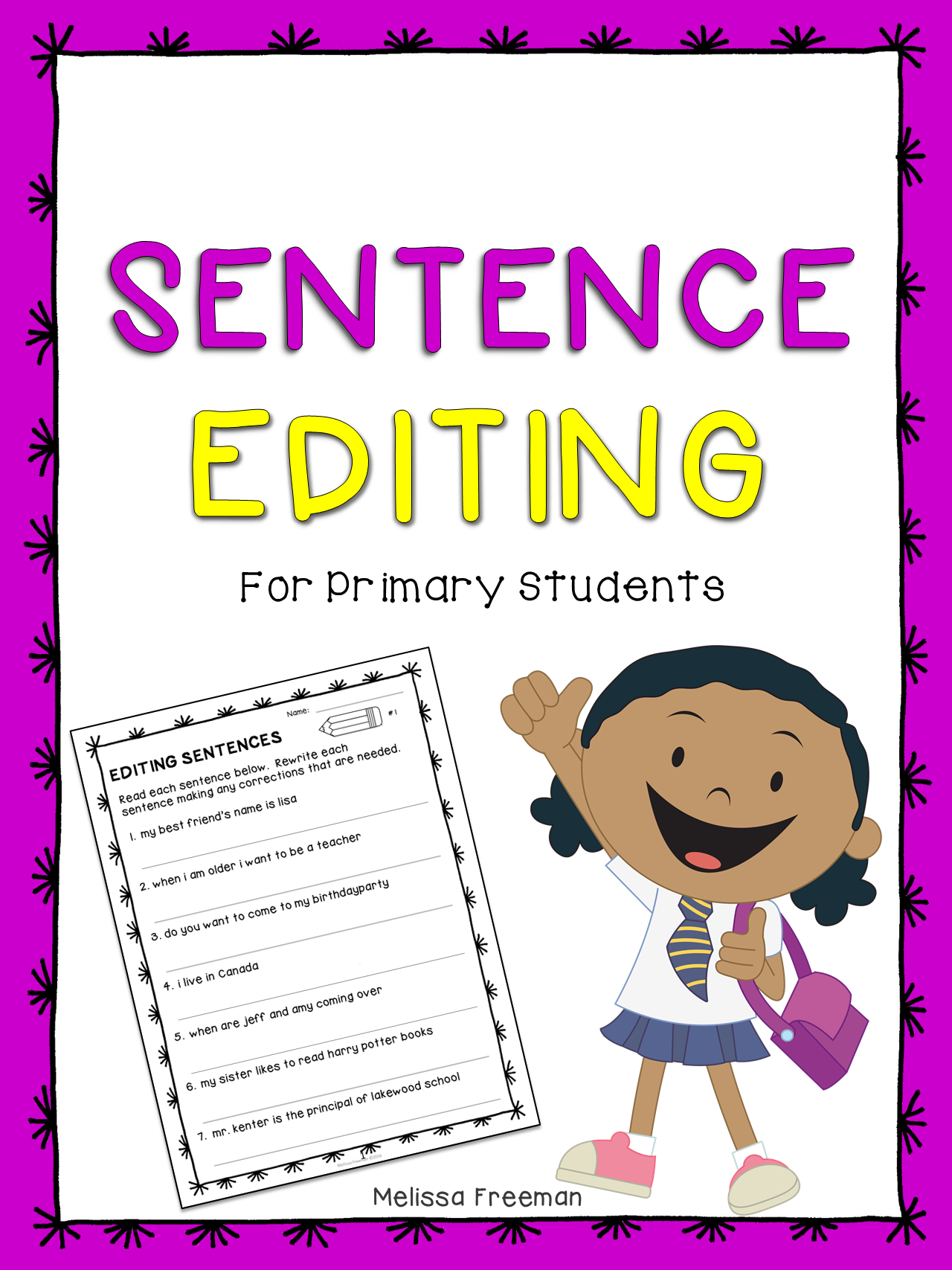 Pin by The Teaching Rabbit on TpT Language Arts Lessons   Sentence editing [ 1707 x 1280 Pixel ]