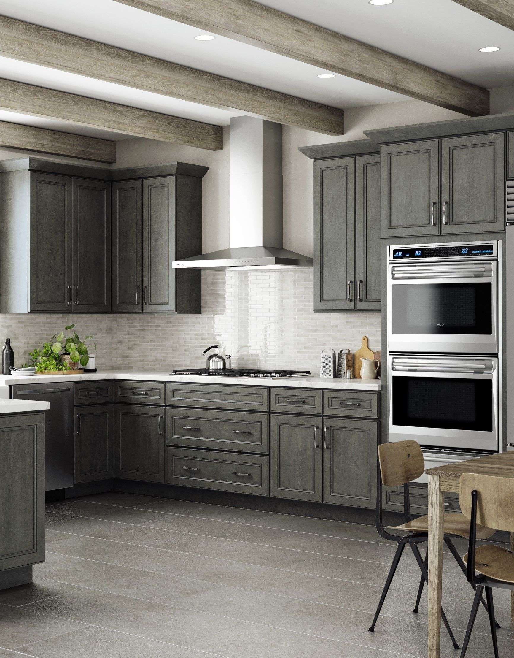 Revamp Your Kitchen This Spring With Our York Driftwood Grey Ready To Assemble Kitchen Cabinets Sho Cheap Kitchen Cabinets Kitchen Remodel 3d Kitchen Design