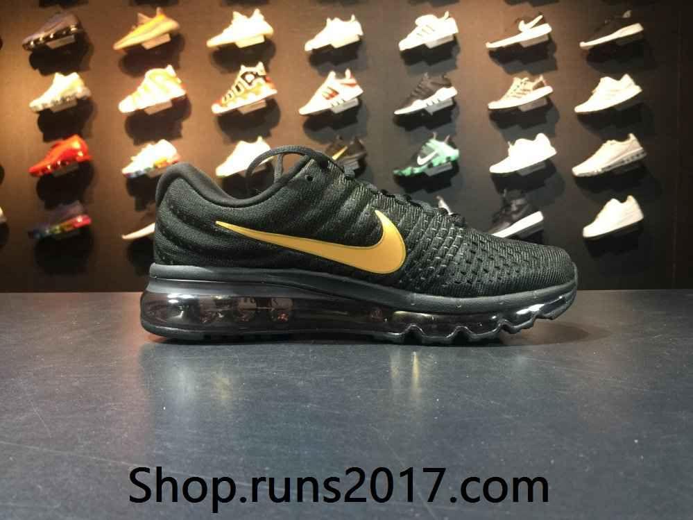 Nike Air Max 2017 Mesh Black Gold Tick