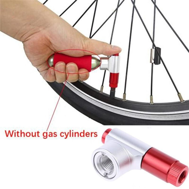 B2 Portable Bike Bicycle Tire Air Co2 Inflator Pump Valve Head