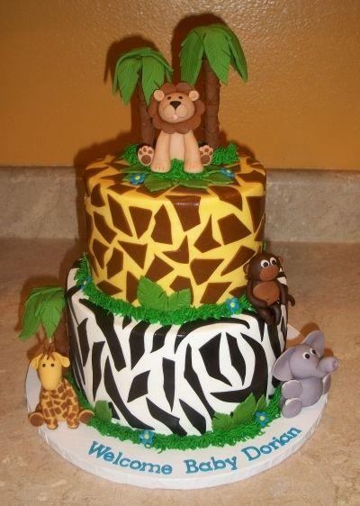 Jungle Theme Baby Shower By cakesbykayla on CakeCentral.com