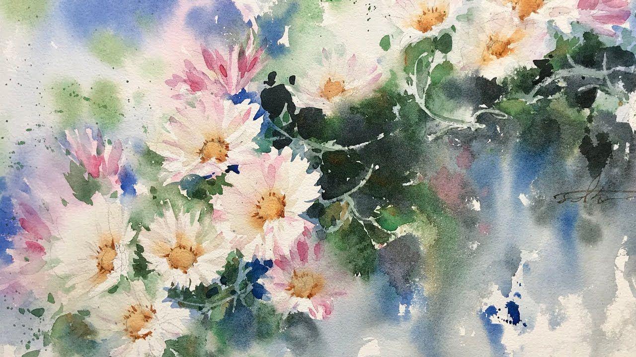 Comment Peindre Des Fleurs De Marguerite A L Aquarelle En 2020