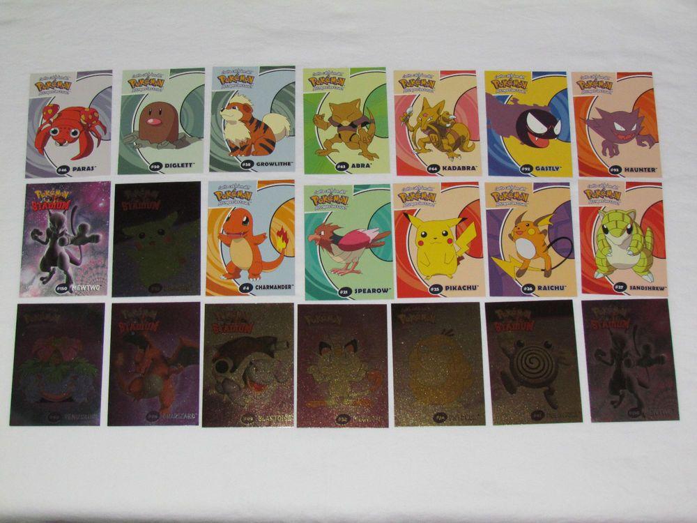 2000 danone pokemon complete trading card set 140 foil