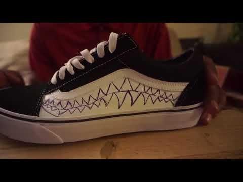 ad083d9d6bc9a3 Custom Bape Shark Teeth Vans