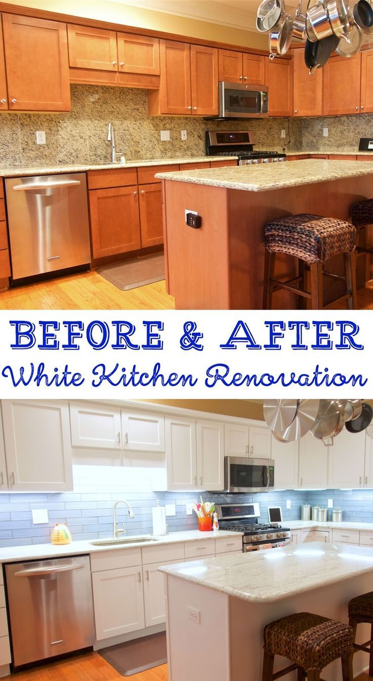 Before And After White Kitchen Renovation Painted