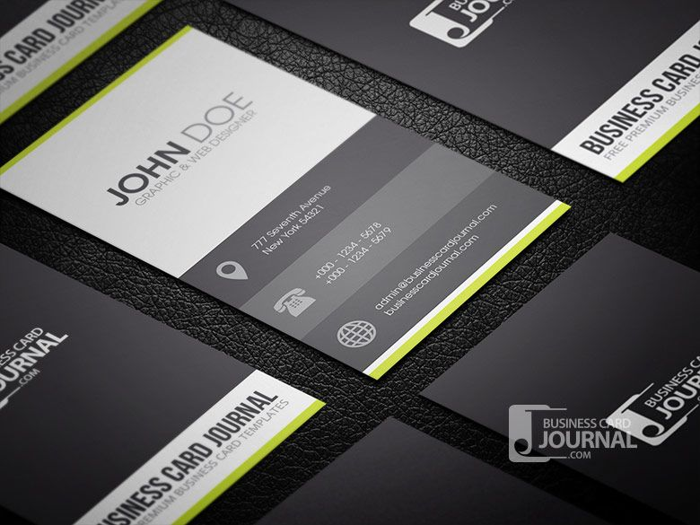 Free Clean & Minimal Metro Style Business Card Template » Business ...