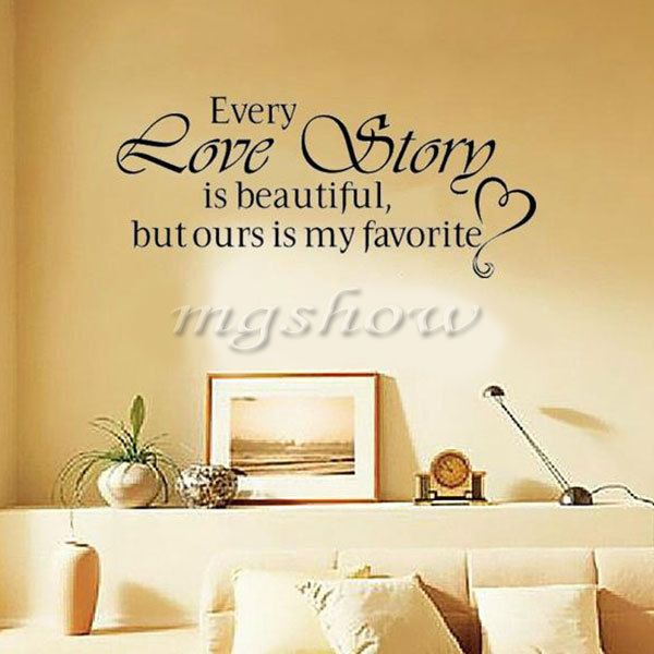 Details about Every Love Story is Beautiful Decor Removable Vinyl ...