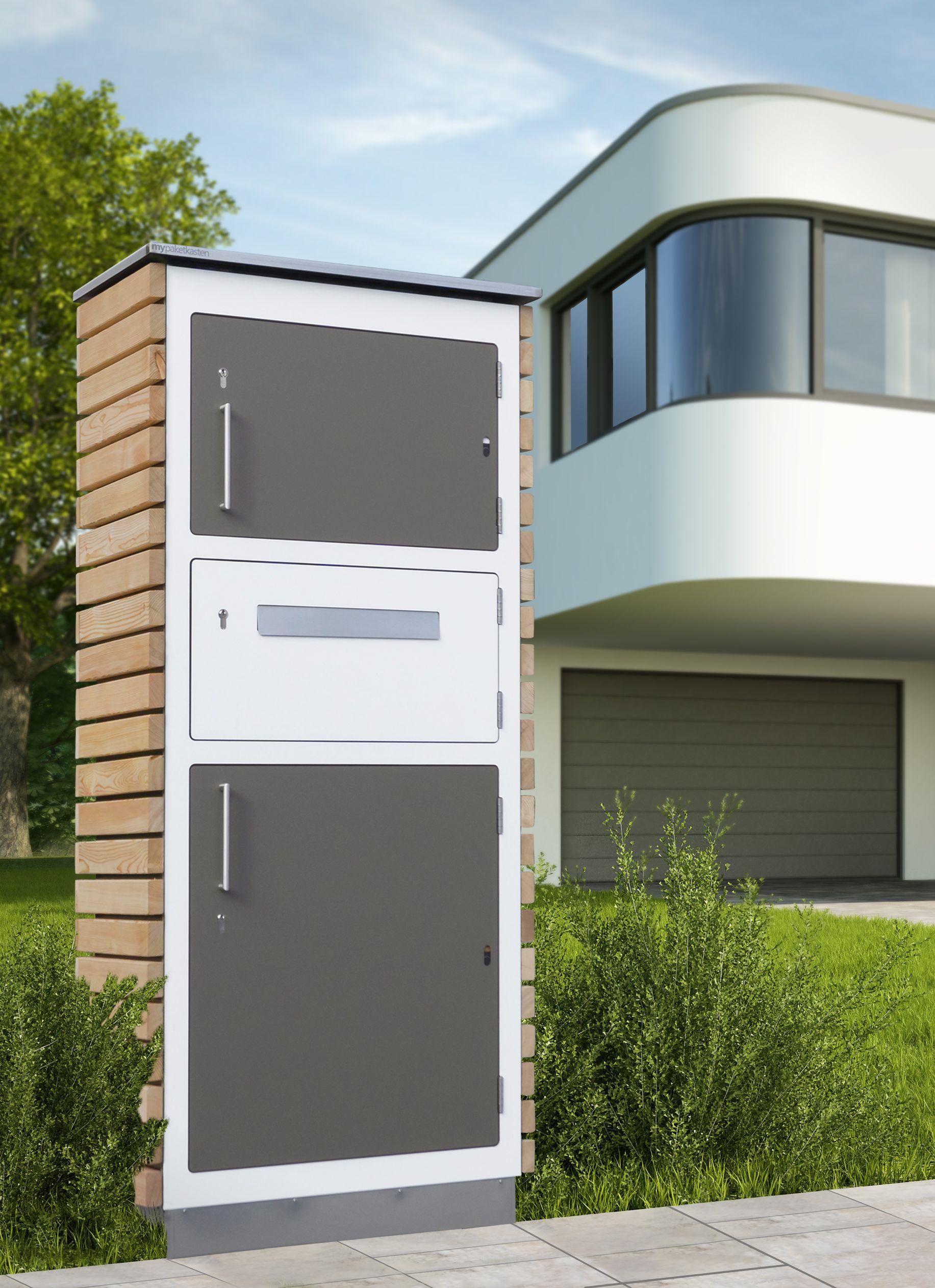 Paketbriefkasten Aus Holz Tolle Idee Paketbriefkasten Paketkasten Briefkasten Modern