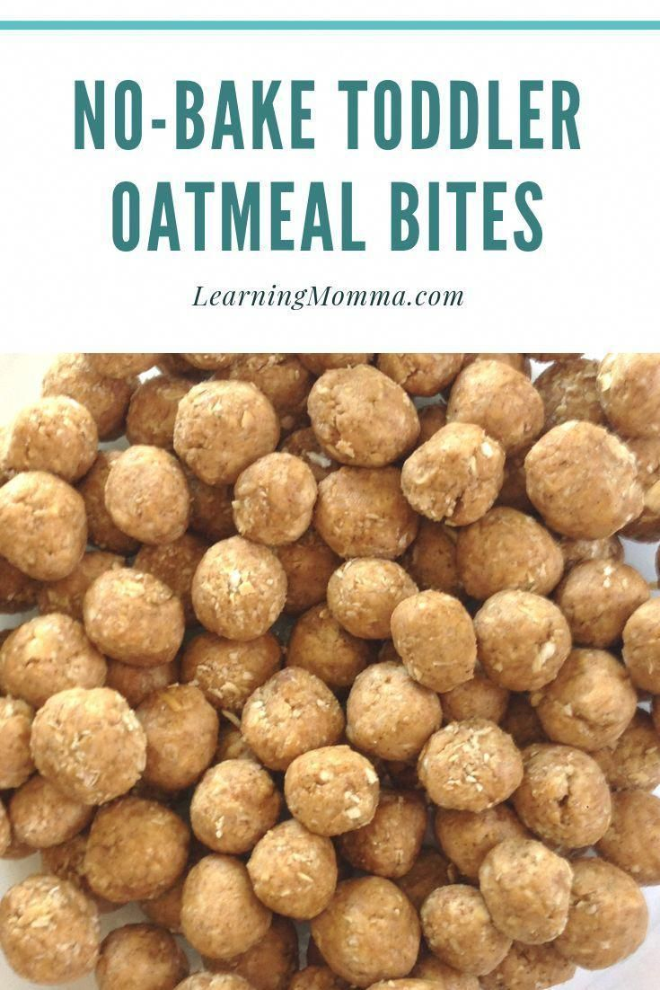 No Bake Toddler Oatmeal Bites – Just 4 Simple Ingredients!