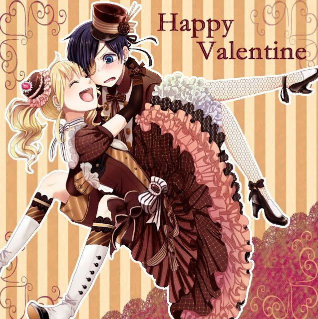 Couple Happy Valentines Day Anime