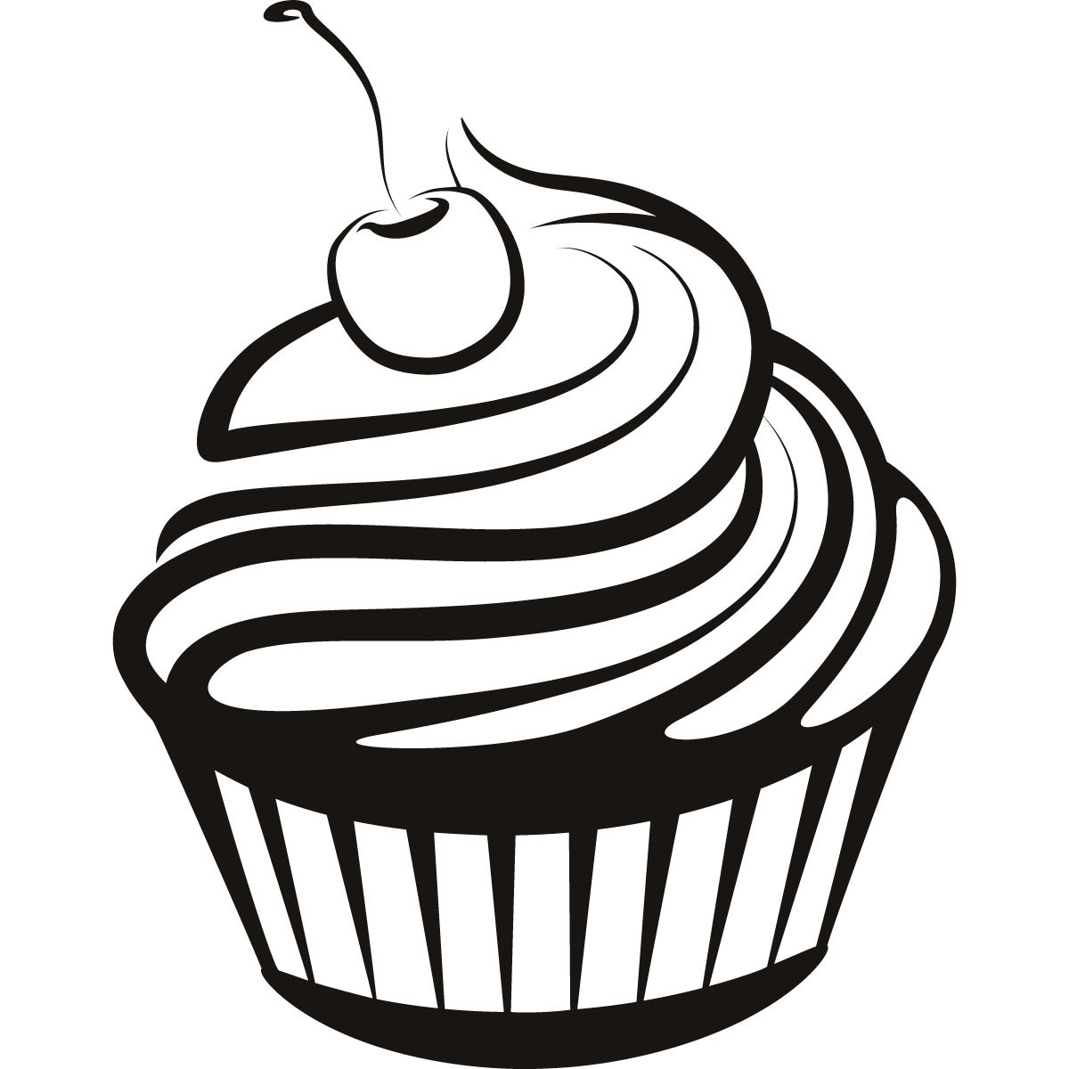 Cupcake black and white cupcake drawings and cupcakes