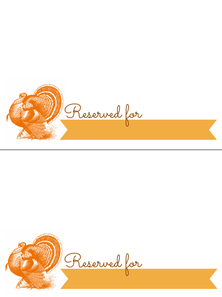 Thanksgiving Turkey Place Card Table Setting Printable For Printing Png Box Place Card Template Thanksgiving Place Cards Printable Place Cards