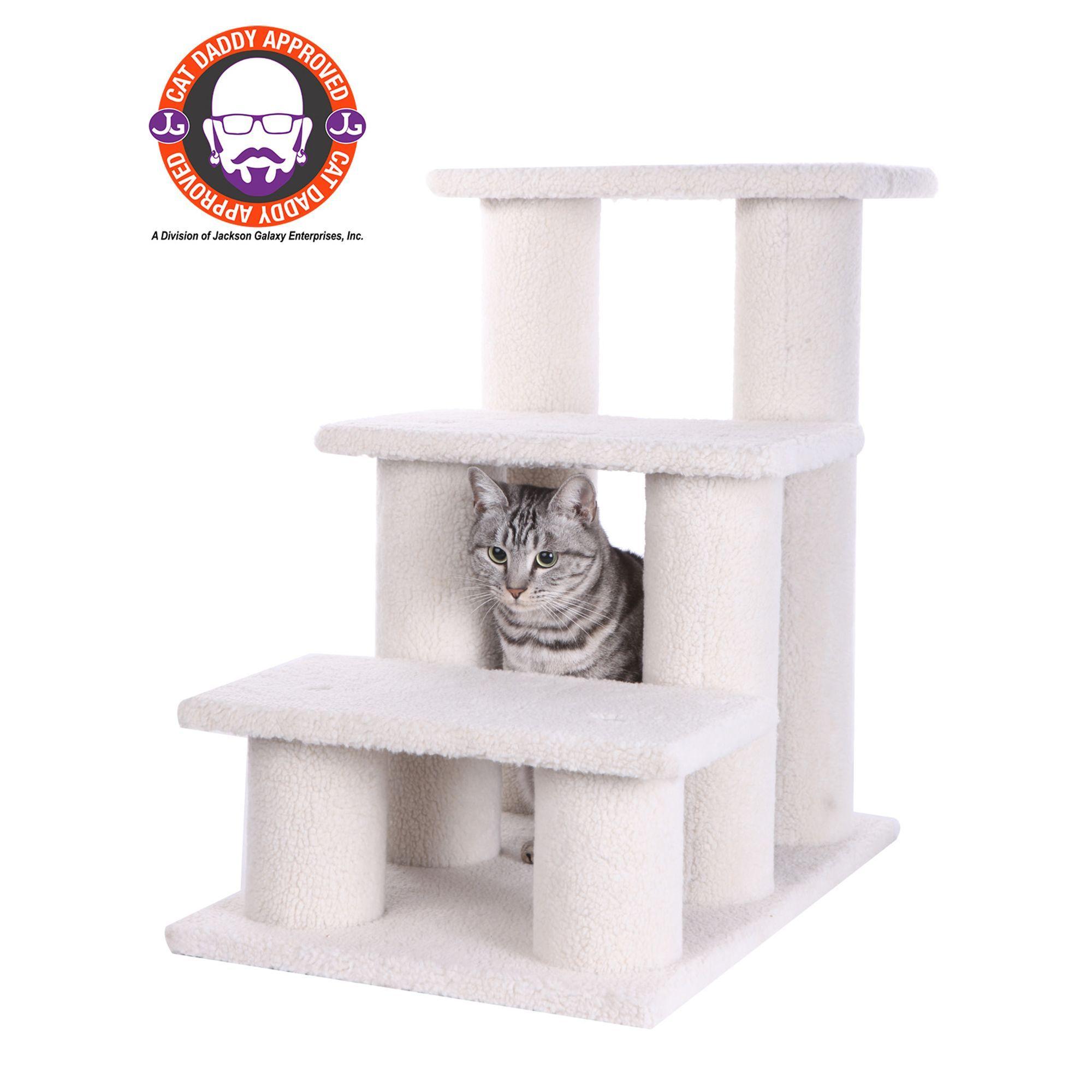 Armarkat Cat Tree Ivory Pet Steps Cat Furniture Wood Dog