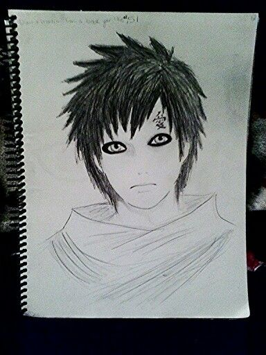 My drawing of Gaara from Naruto  My Art and Drawings  Pinterest