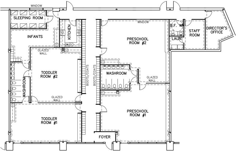 Daycare Facility Floorplan  Day Care Floor Plan Designs  Future