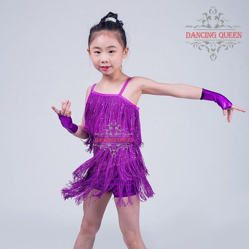 Envío gratis Fringe Latin Dance modernos trajes de baile bailando ...