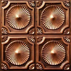 "Decorative Plastic Ceiling Tiles Interesting Whirligigs  Faux Tin Ceiling Tile  Glue Up  24""x24""  #106 Design Decoration"