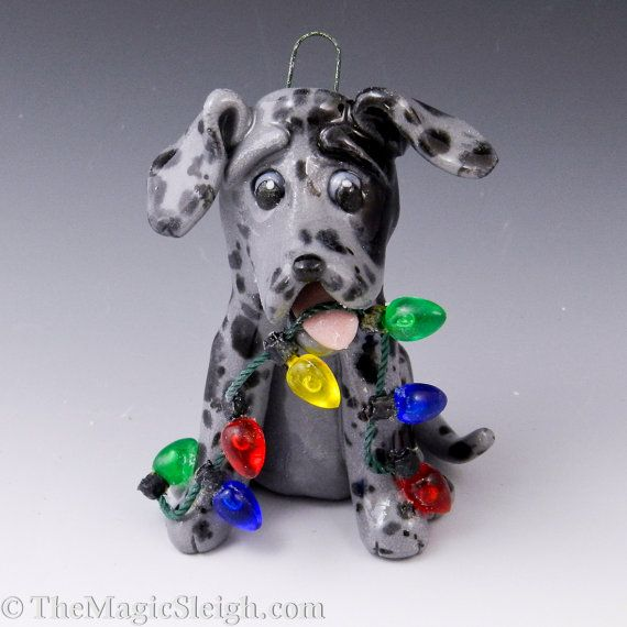This Is To Cute Great Dane Blue Merle Ornament Awe I Want One