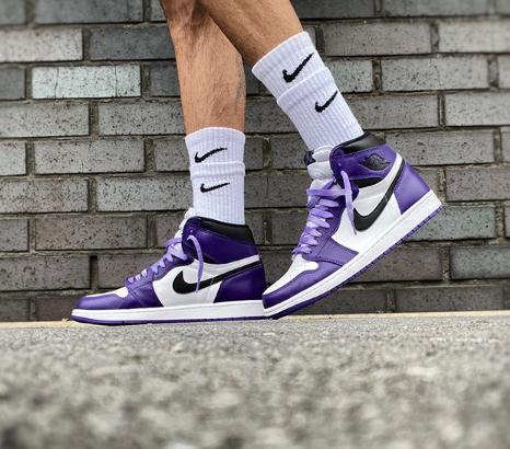 Nike Air Jordan 1 Retro High OG 'Court Purple 2.0' : 555088 500 ...