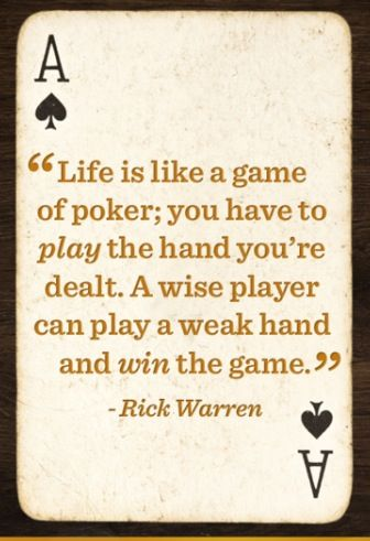 Image result for images of sayings about poker and life