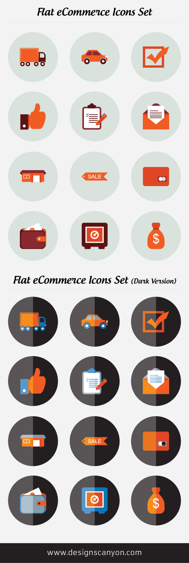 Flat Icons Set Free Download (With images