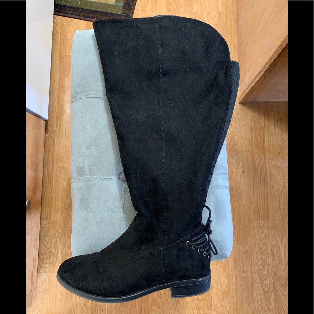 torrid Shoes | Torrid Size 10 Black Over The Knee Boots