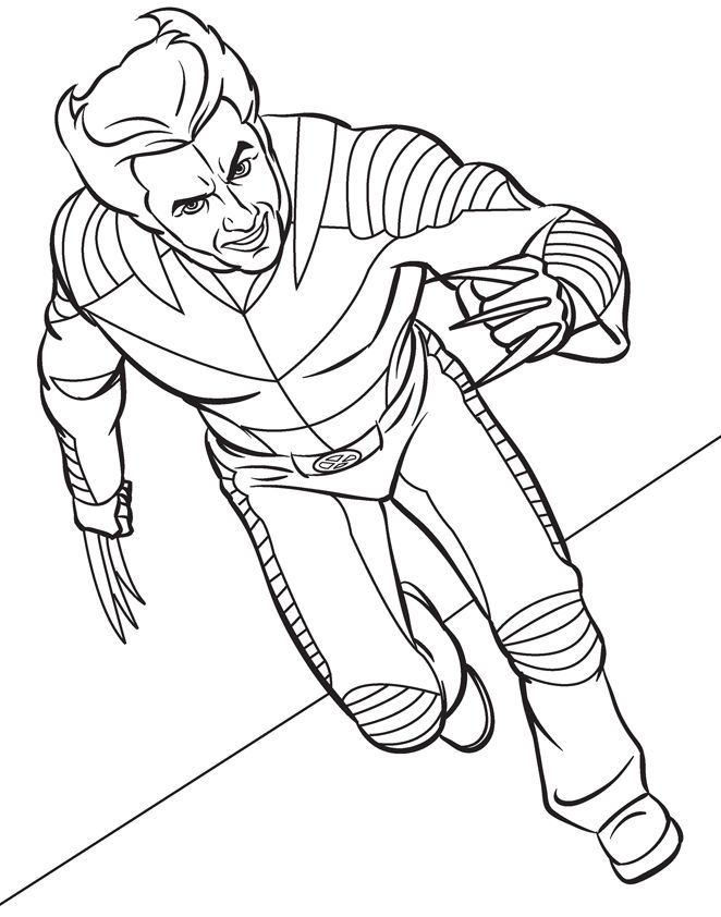 Wolverine Marvel Coloring Pages 001 | Superhero coloring ...